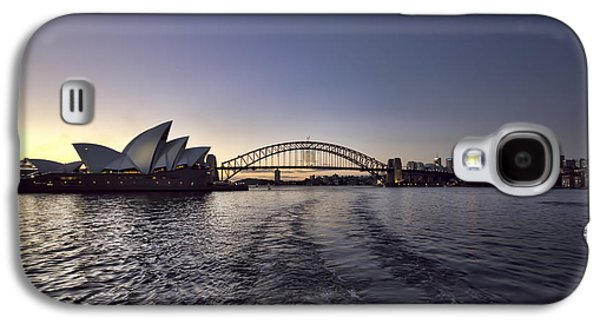 Skyline Galaxy S4 Case - Sunset Over Sydney Harbor Bridge And Sydney Opera House by Douglas Barnard