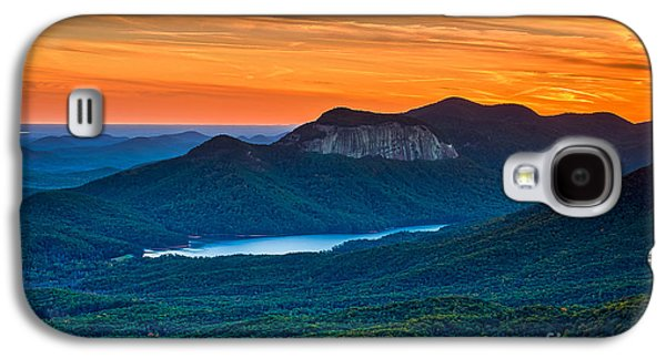 Sunset Over Table Rock From Caesars Head State Park South Carolina Galaxy S4 Case by T Lowry Wilson