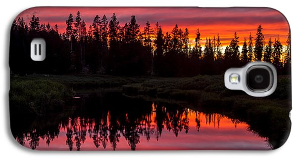 Sunset Over The Stillwater Galaxy S4 Case by TL  Mair