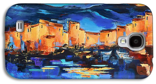 Sunset Over The Village 2 By Elise Palmigiani Galaxy S4 Case by Elise Palmigiani