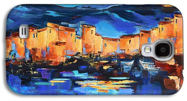 Sunset Over The Village 2 By Elise Palmigiani Galaxy S4 Case