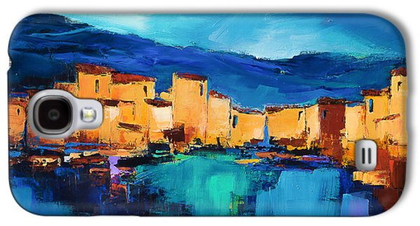 Sunset Over The Village 3 By Elise Palmigiani Galaxy S4 Case by Elise Palmigiani