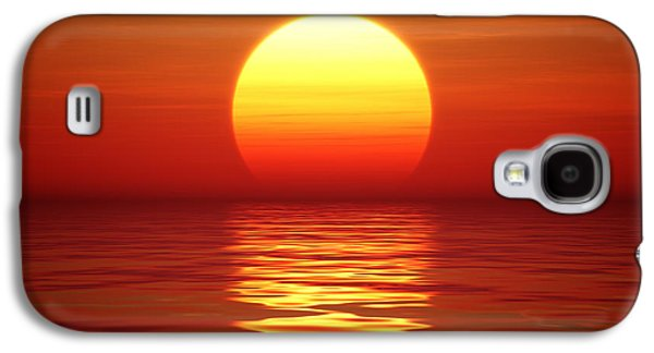 Sunset Over Tranqual Water Galaxy S4 Case by Johan Swanepoel