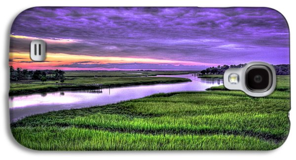Wren Galaxy S4 Case - Sunset Over Turners Creek Savannah Tybee Island Ga by Reid Callaway