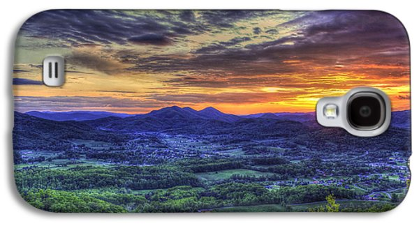 Sunset Over Wears Valley Tennessee Mountain Art Galaxy S4 Case by Reid Callaway