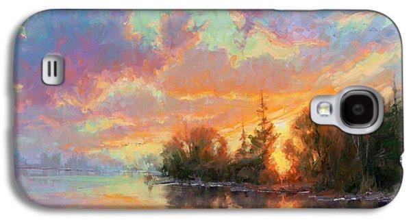 Sunset Reflections Galaxy S4 Case by Becky Joy