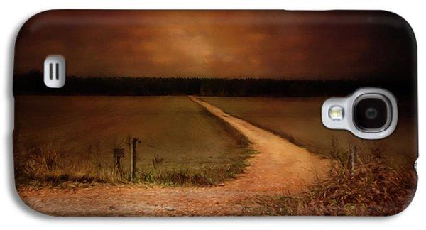 Sunset Road Landscape Art Galaxy S4 Case