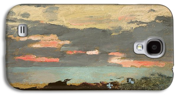 Sunset, Saco Bay Galaxy S4 Case by Winslow Homer
