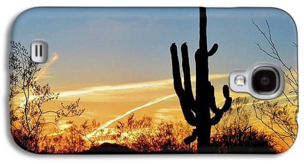 Sunset Saguaro In The Spring Galaxy S4 Case