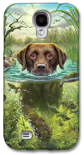 Sunset Swim With Friends Galaxy S4 Case