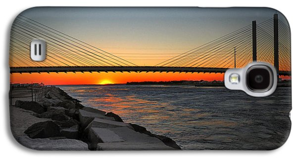 Sunset Under The Indian River Inlet Bridge Galaxy S4 Case