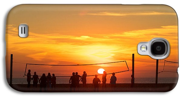 Sunset Volleyball Galaxy S4 Case by Kim Wilson
