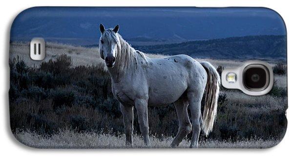 Sunset With Wild Stallion Tripod In Sand Wash Basin Galaxy S4 Case