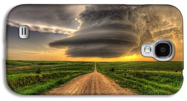 Nebraska Galaxy S4 Case - Supercell Highway - Arcadia Nebraska by Douglas Berry