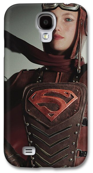 Supergirl Air Force 1944 Galaxy S4 Case by J A Duran