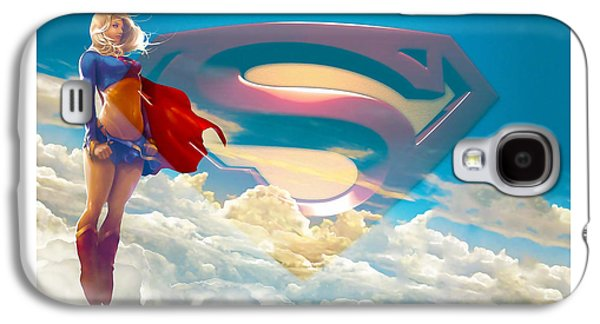 Supergirl Art Galaxy S4 Case by Marvin Blaine