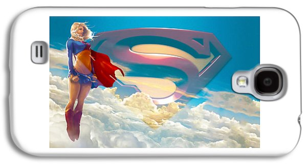 Supergirl Art Galaxy S4 Case