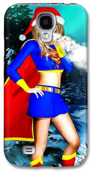 Supergirl Holiday Greeting Card Galaxy S4 Case
