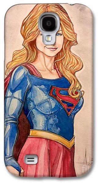 Supergirl Galaxy S4 Case by Jimmy Adams