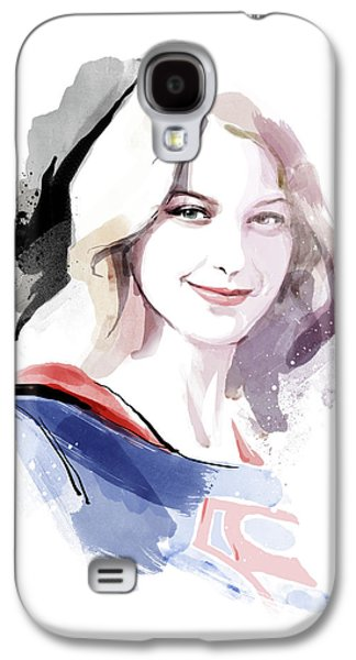 Supergirl Galaxy S4 Case by Unique Drawing
