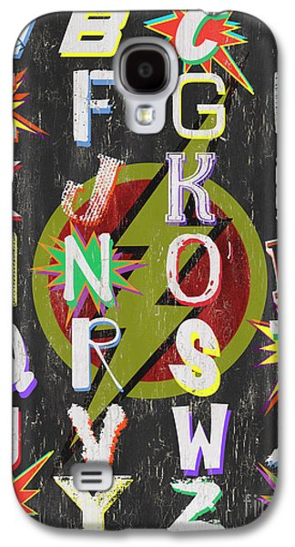 Superhero Alphabet Galaxy S4 Case