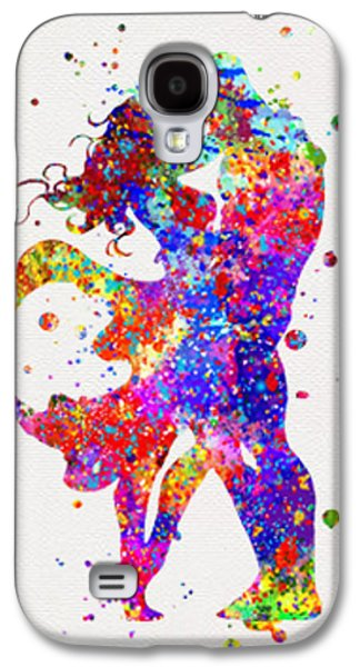 Superman And Supergirl  Print Galaxy S4 Case by Del Art