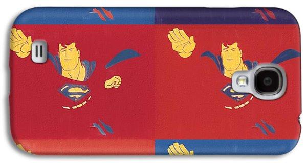 Superman Pop Art Panels Galaxy S4 Case by Dan Sproul