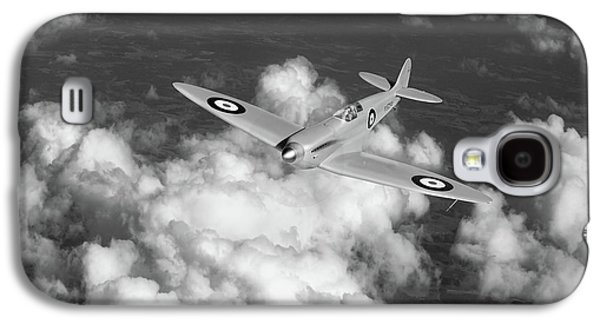 Galaxy S4 Case featuring the photograph Supermarine Spitfire Prototype K5054 Black And White Version by Gary Eason