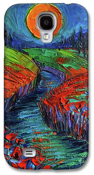 Supermoon And Poppies Galaxy S4 Case