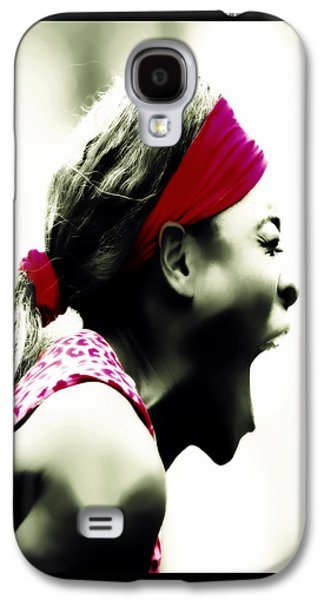 Serena Williams 03c Galaxy S4 Case by Brian Reaves