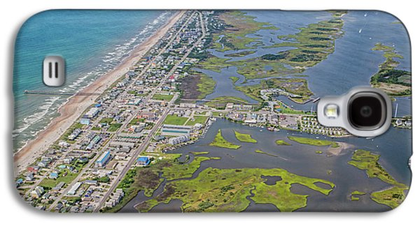 Surf City Topsail Island Aerial Galaxy S4 Case by Betsy Knapp