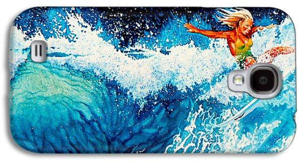 Surfer Girl Galaxy S4 Case by Hanne Lore Koehler