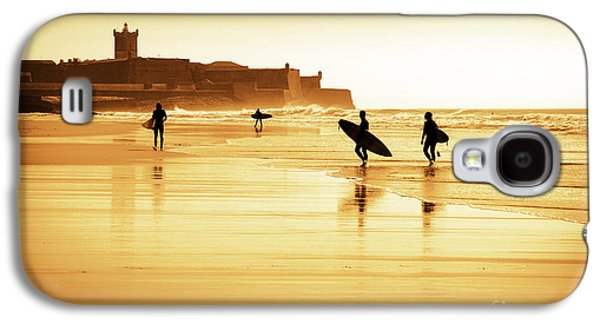 Surfers Silhouettes Galaxy S4 Case by Carlos Caetano
