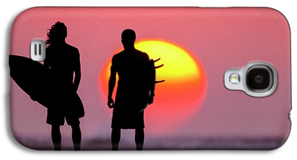 Surfers Sunset Galaxy S4 Case