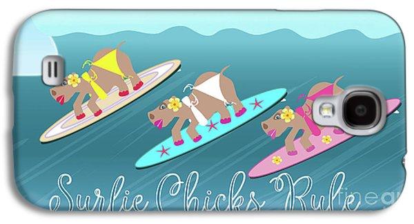 Surfie Chicks Rule Galaxy S4 Case
