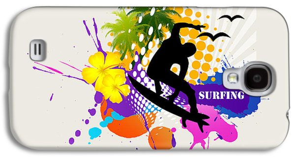 Surfing Galaxy S4 Case by Mark Ashkenazi