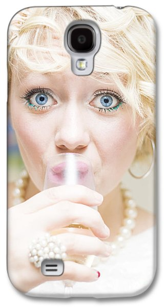 Surprise Party Girl Galaxy S4 Case by Jorgo Photography - Wall Art Gallery