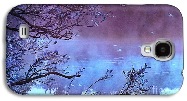 Surreal Fantasy Purple Fall Autumn Nature Scene Galaxy S4 Case by Kathy Fornal