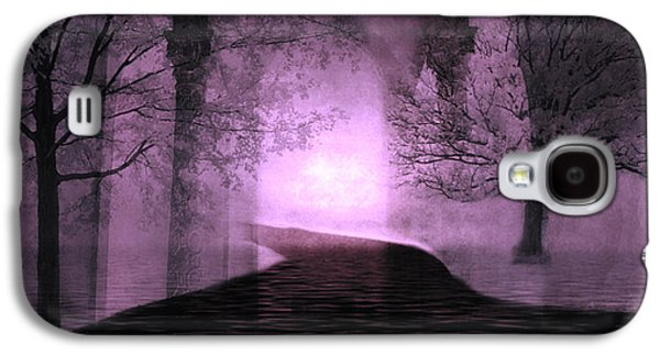 Surreal Purple Fantasy Nature Path Trees Landscape  Galaxy S4 Case by Kathy Fornal