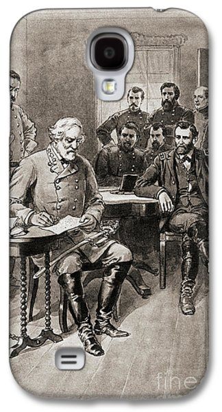 Surrender Of Robert E Lee To General Ulysses S Grant, Appomattox Court House,virginia Galaxy S4 Case by American School