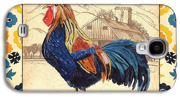 Suzani Rooster 1 Galaxy S4 Case by Debbie DeWitt