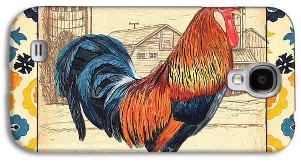 Suzani Rooster 2 Galaxy S4 Case by Debbie DeWitt