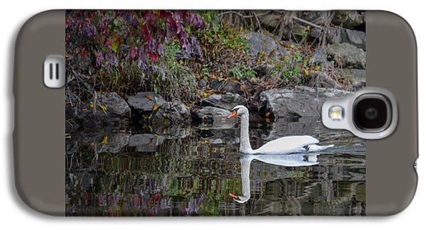 Swan In Autumn Reflections Galaxy S4 Case