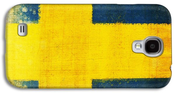 Swedish Flag Galaxy S4 Case by Setsiri Silapasuwanchai