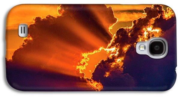 Nebraskasc Galaxy S4 Case - Sweet Nebraska Crepuscular Rays 010 by NebraskaSC