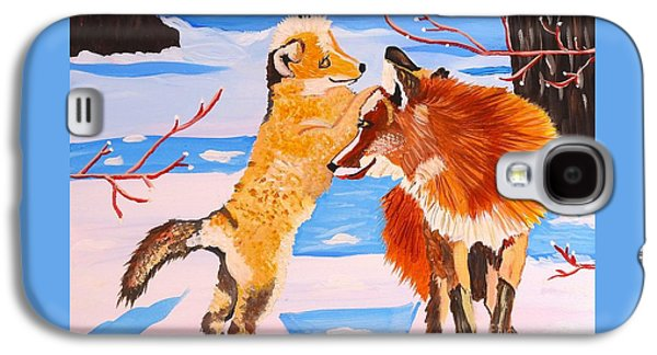 Sweet Vixen And Kit Foxes Galaxy S4 Case by Phyllis Kaltenbach