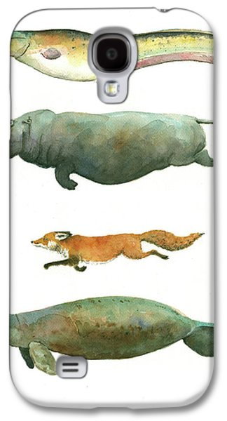 Swimming Animals Galaxy S4 Case by Juan Bosco