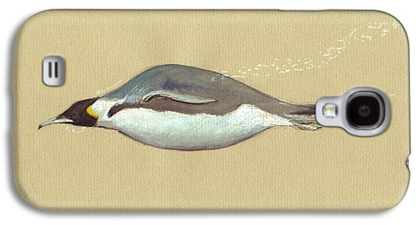 Swimming Penguin Painting Galaxy S4 Case