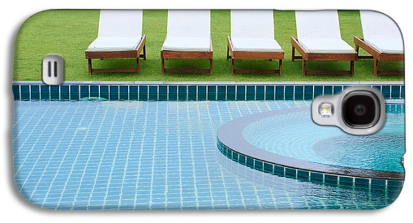 Swimming Pool And Chairs Galaxy S4 Case by Atiketta Sangasaeng