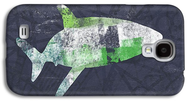 Swimming With Sharks 2- Art By Linda Woods Galaxy S4 Case